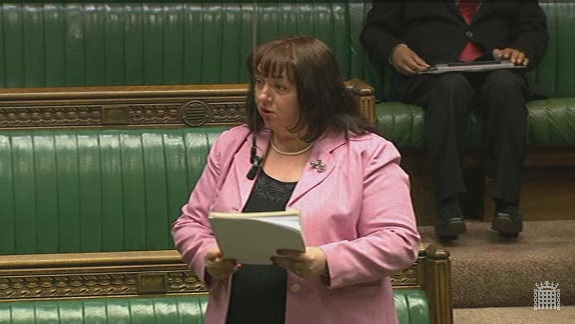 Sharon presenting the petition in the Chamber