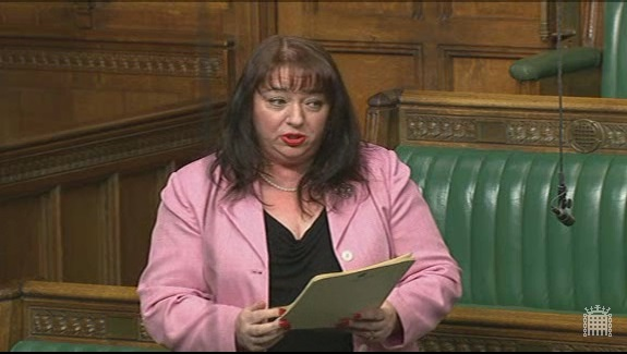 Sharon presenting the new clauses in the Commons