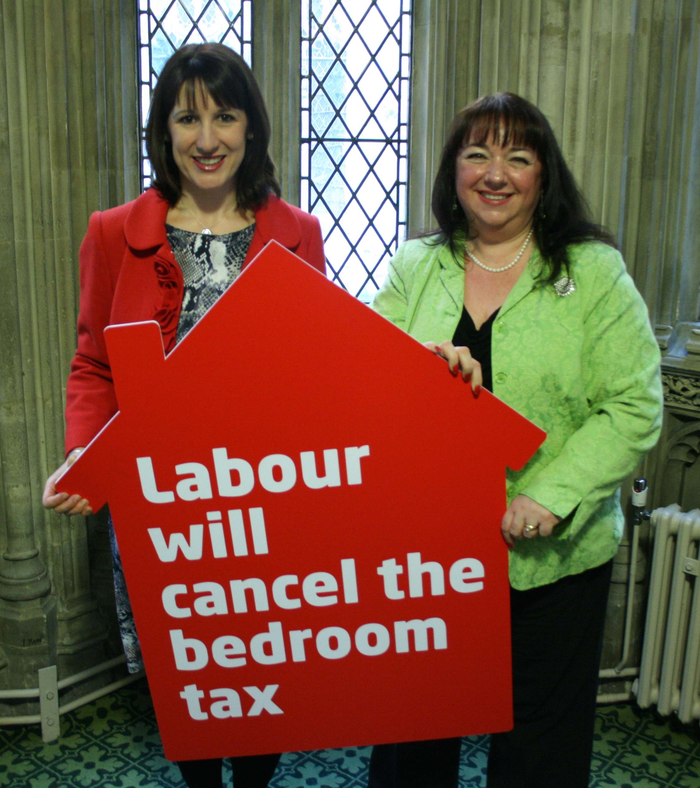Sharon with Rachel Reeves MP