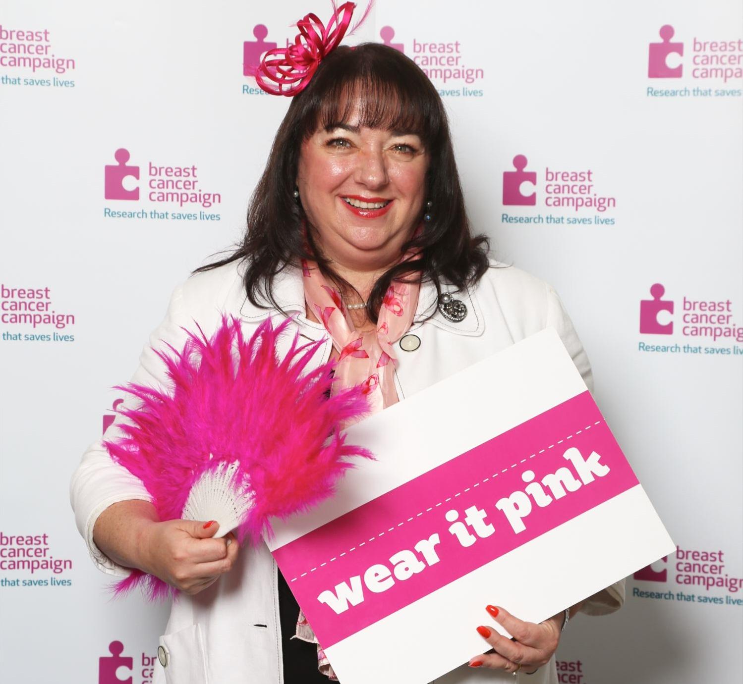 Sharon wearing it pink