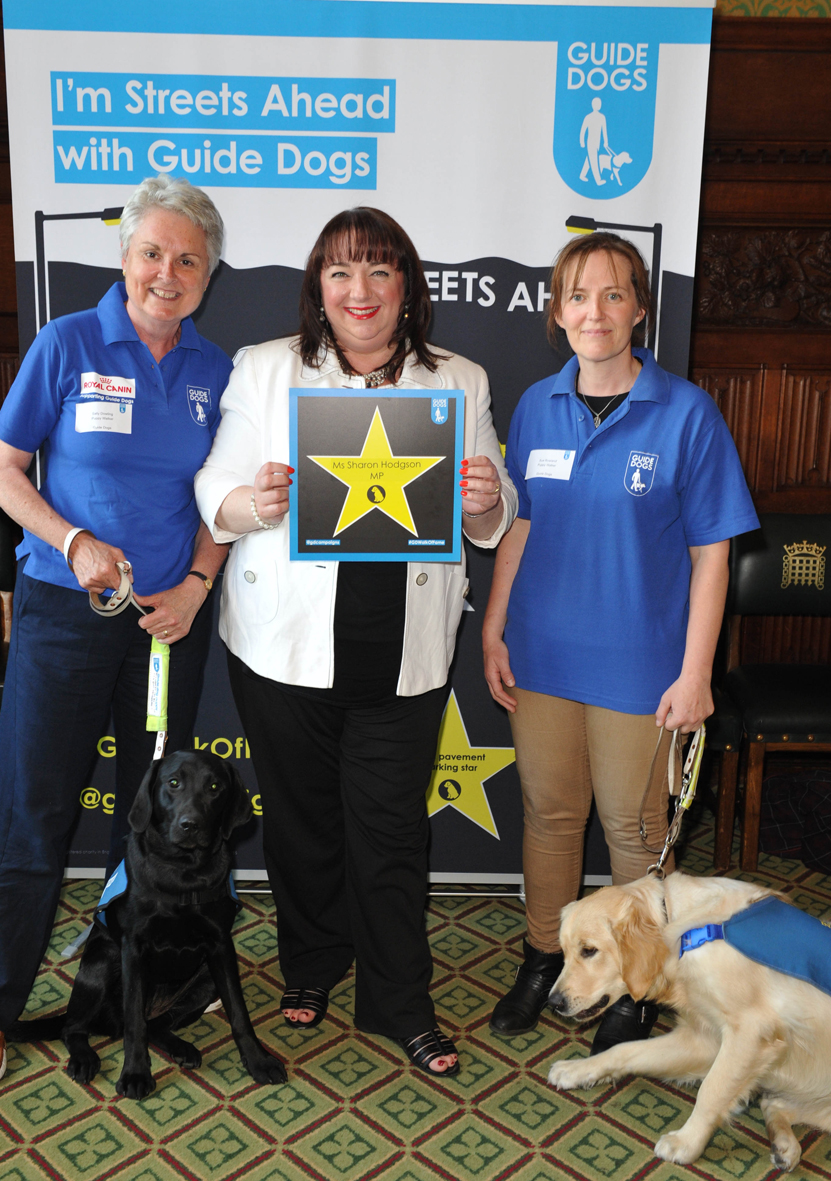 Sharon Hodgson MP supports Guide Dogs campaign 2015
