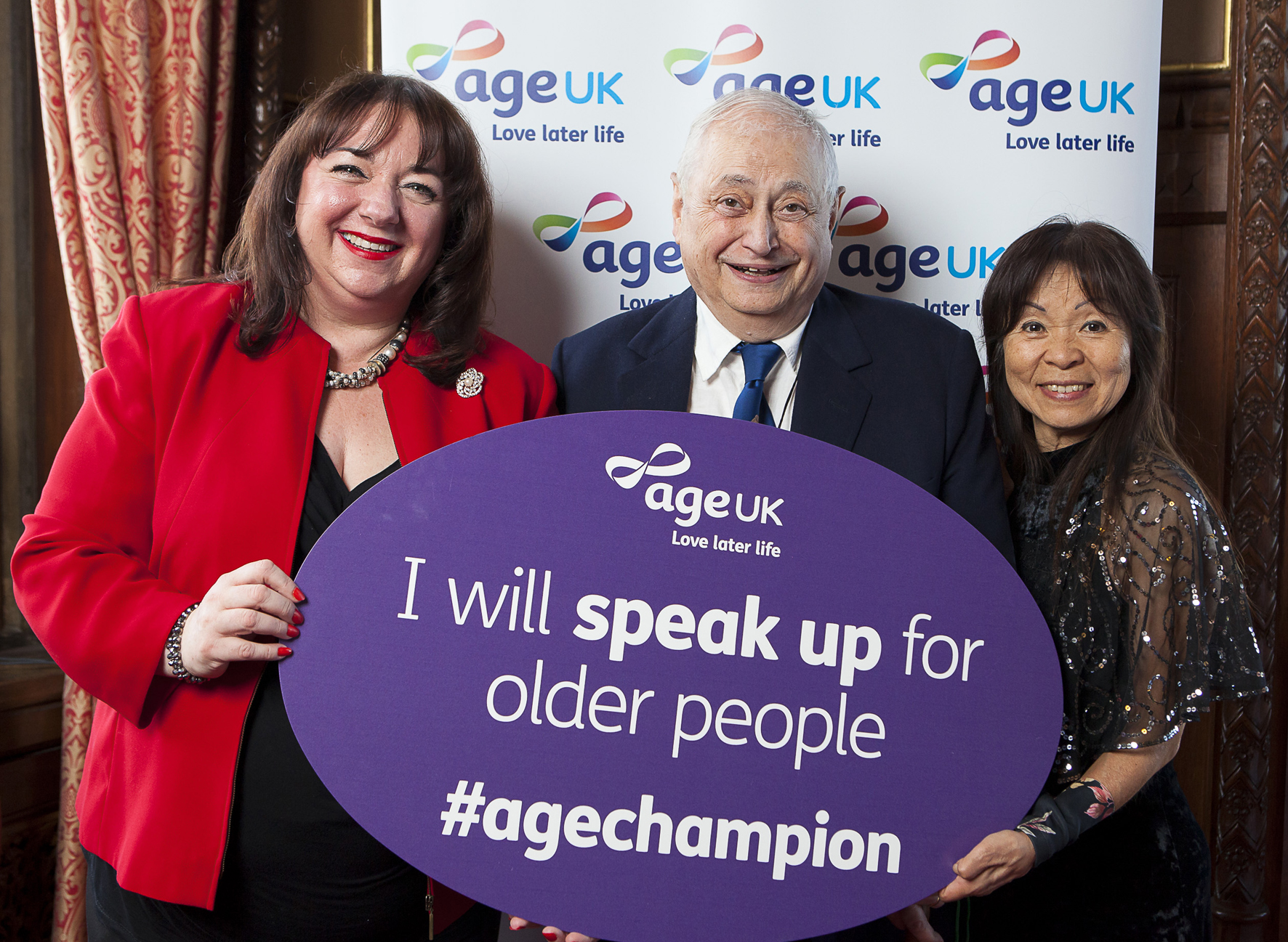 Sharon Hodgson MP attends Age Uk's Age Champion reception in Parliament 2015