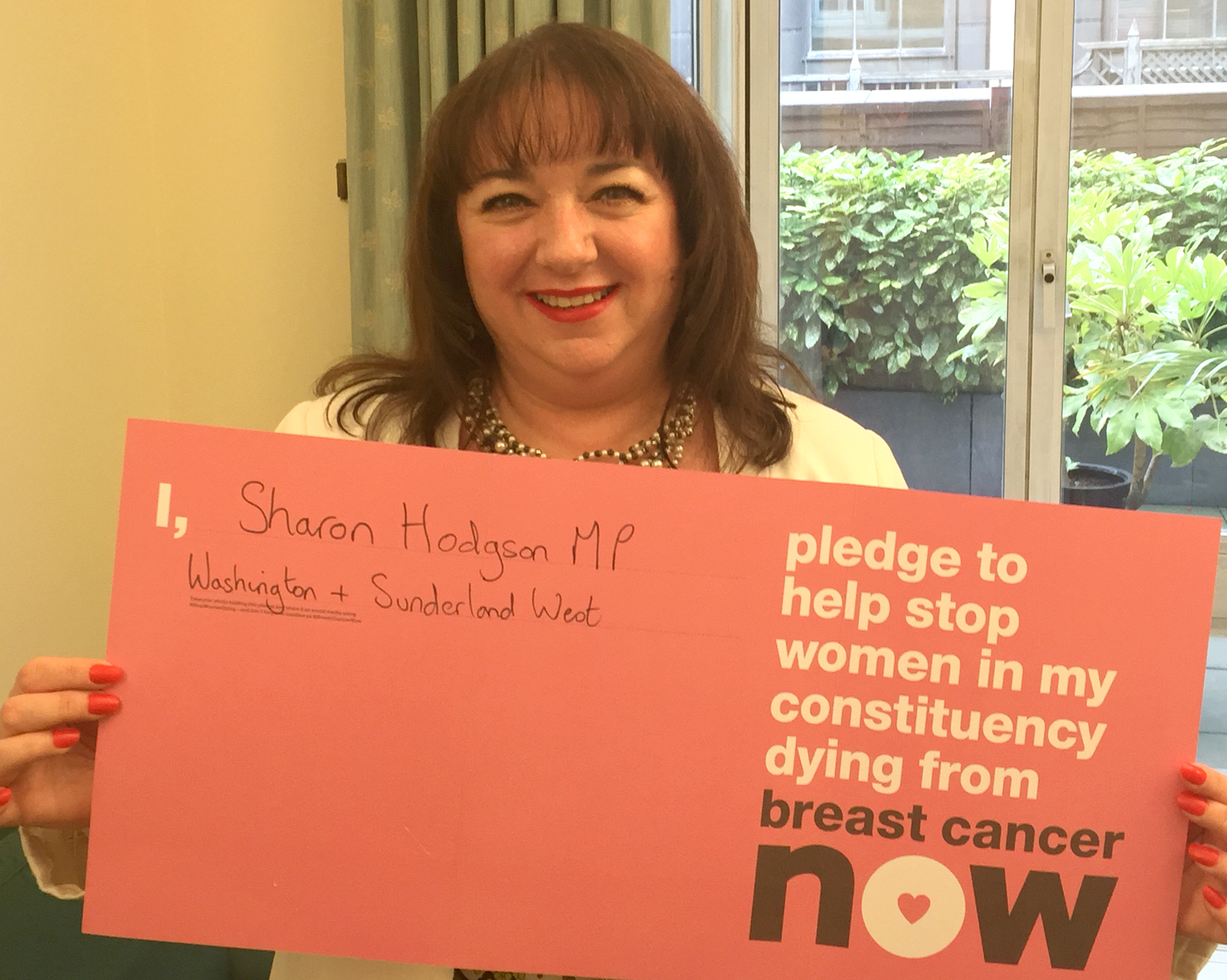 Sharon Hodgson MP pledges to help stop women dying by becoming Breast Cancer Ambassador