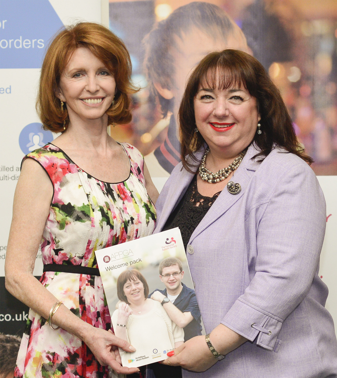 Sharon Hodgson MP with Jane Asher in Parliament