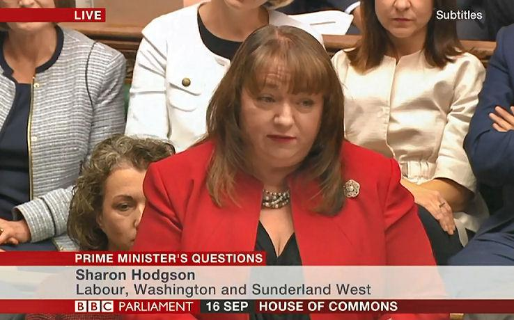 Sharon Hodgosn MP at Prime Ministers Questions 2015