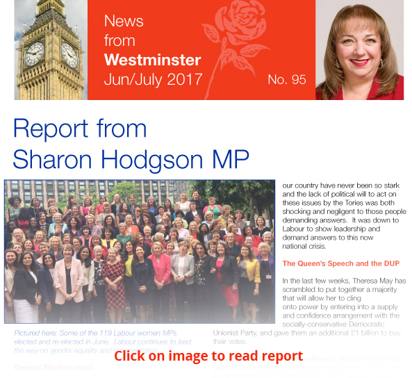 Sharon Hodgson MP report number 95