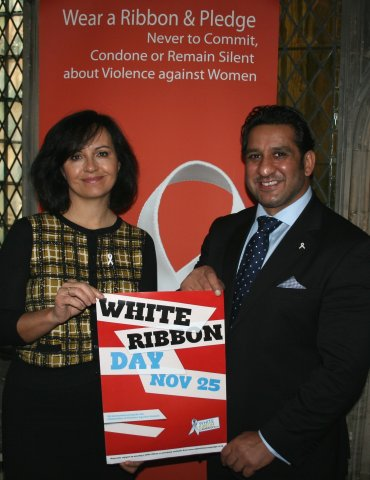 Ikram Butt White Ribbon Campaign