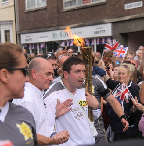 Ben P olympic torch