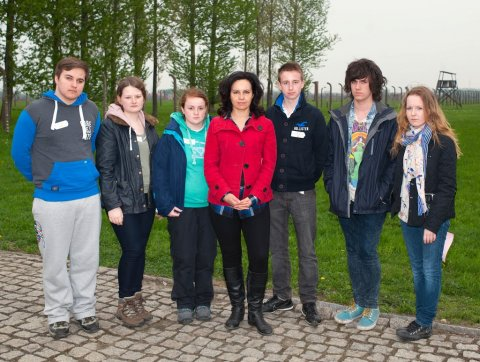 Caroline and Students Auschwitz