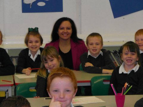 Caroline back in class Thorne Green Top