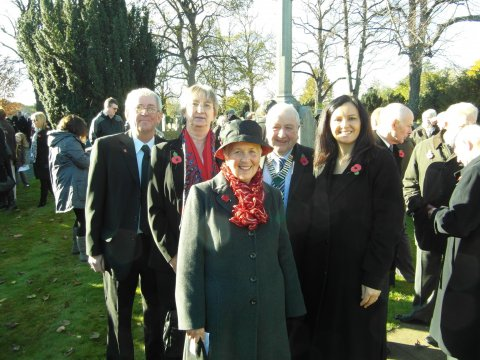 Caroline with Tickhill town councillors