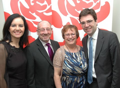 Andy Burnham, Caroline, Ken and Pat