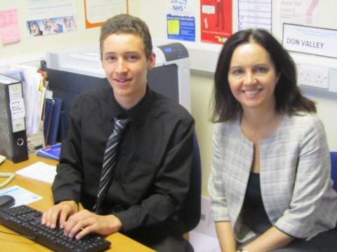 Alex Weir with Caroline