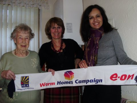 Freda Caroline and Kath, Warm Homes Campaign