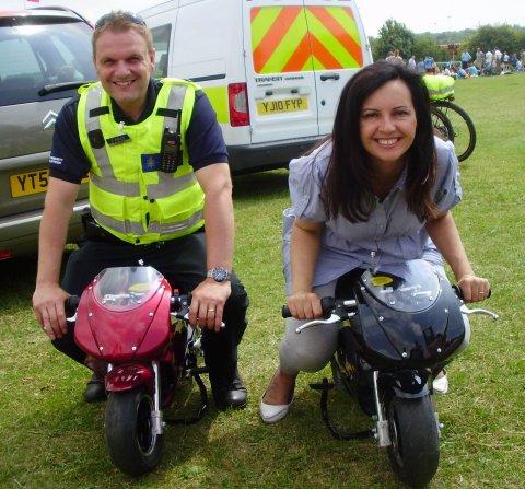 Scott and Caroline mini moto