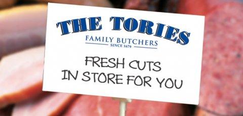 Tory cuts - butchers shop