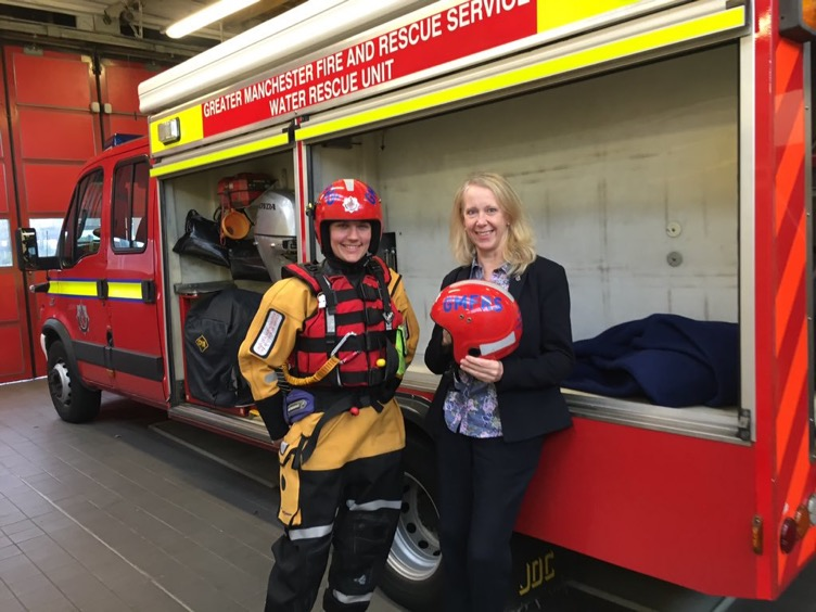 Liz_McInnes_MP_with_Firefighter_Kate_at_Heywood_Fire_Station.JPG