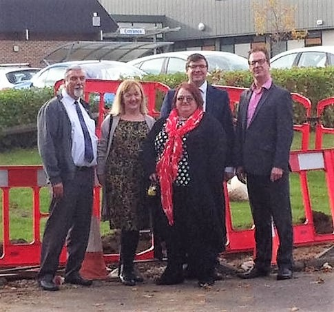 Labour County Councillors at Health Centre crossing county: another successful campaign