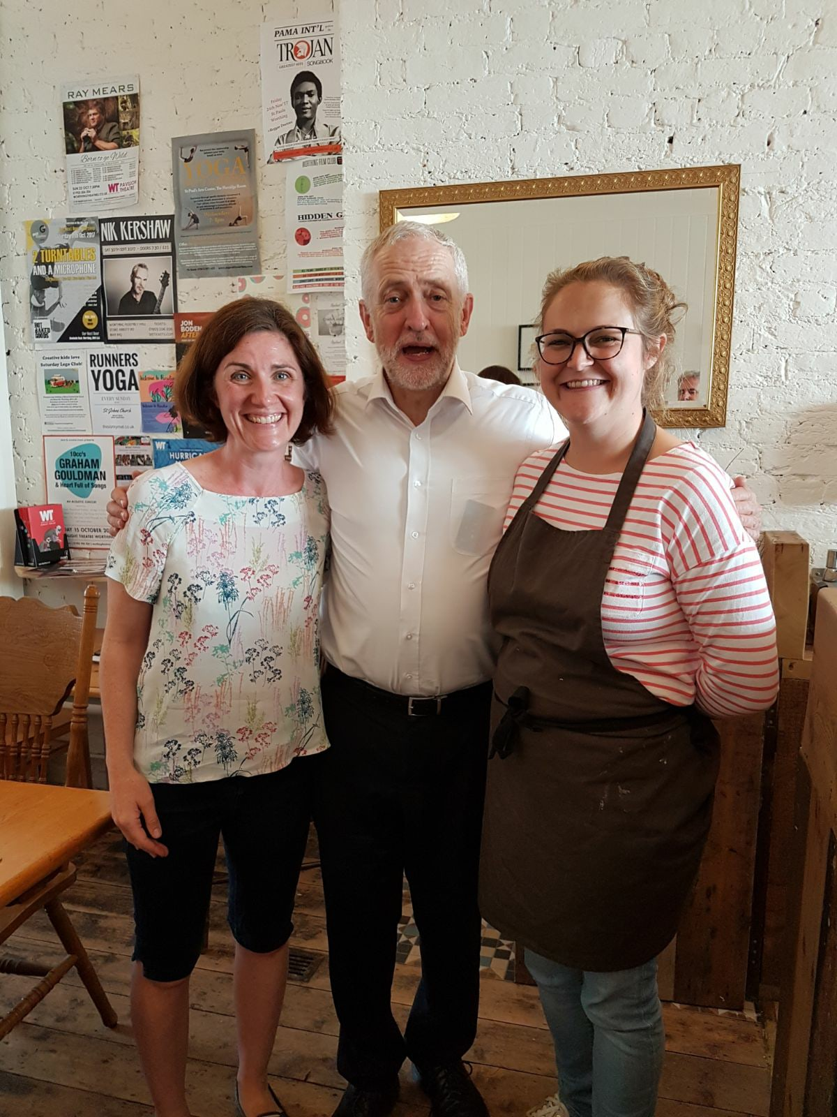 Beccy Cooper and Jeremy Corbyn
