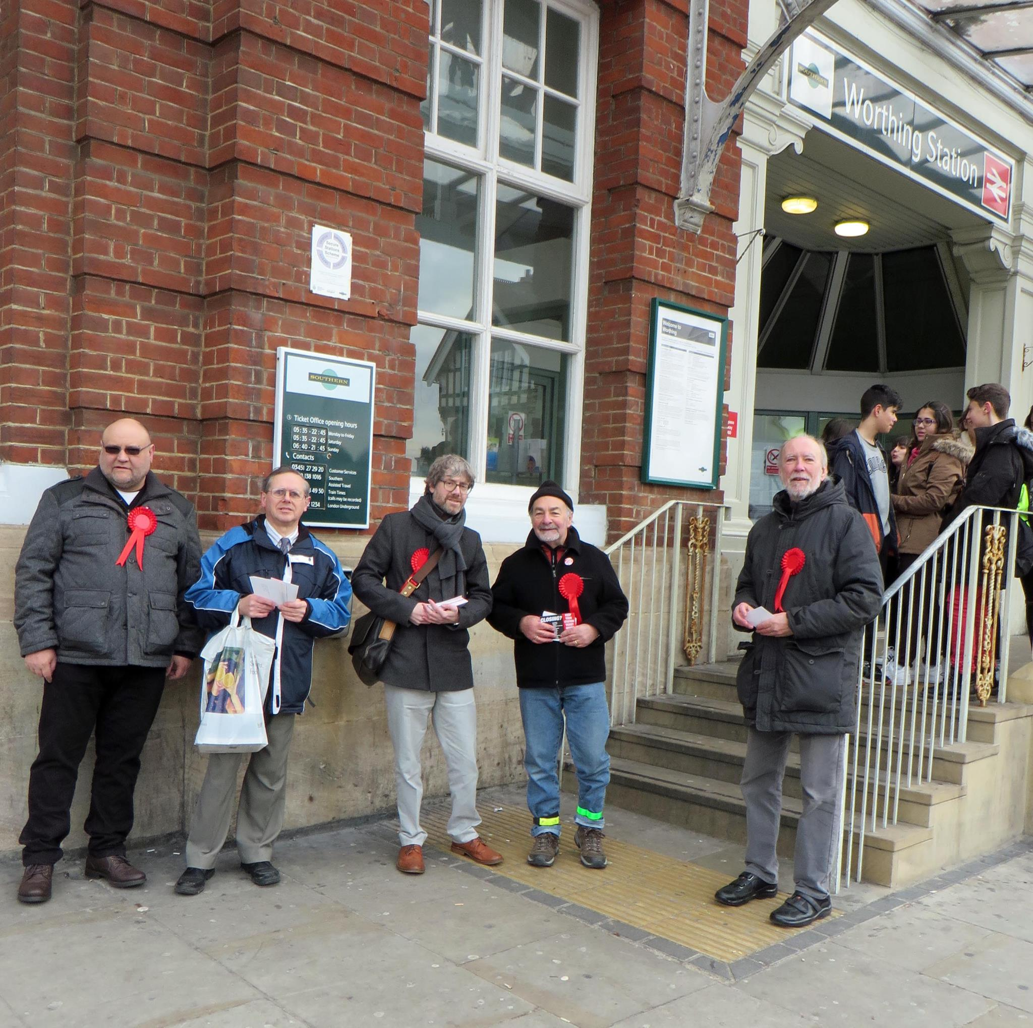 Protest against rail ticket office closures