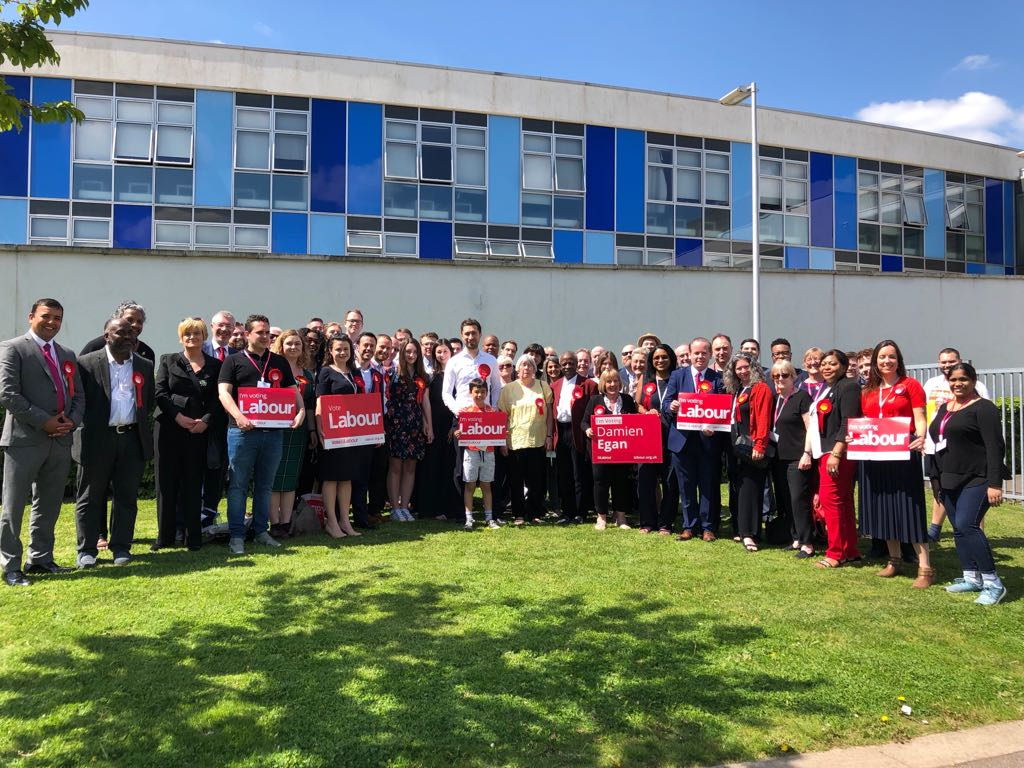 Labour Councillors and supporters at Catford