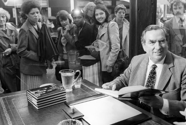 Denis Healey at a book signing in 1980  Read more: http://www.nottinghampost.com/Christian-Weaver-Political-heavyweights-straight/story-28049764-detail/story.html#ixzz3tqArRpOU  Follow us: @Nottingham_Post on Twitter | NottinghamPostOnline on Facebook