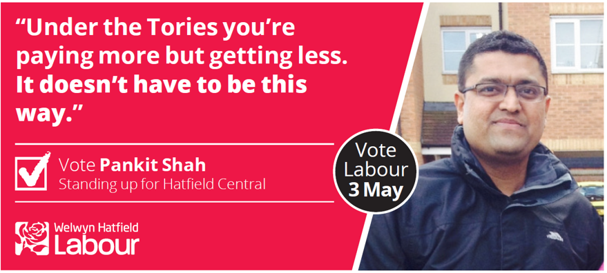 Pankit Shah for Hatfield Central