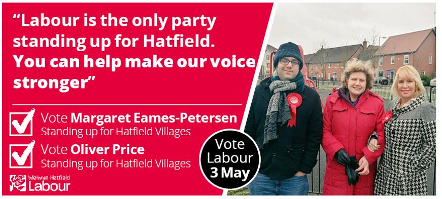 Margaret Eames-Petersen and Oliver Price for Hatfield Villages