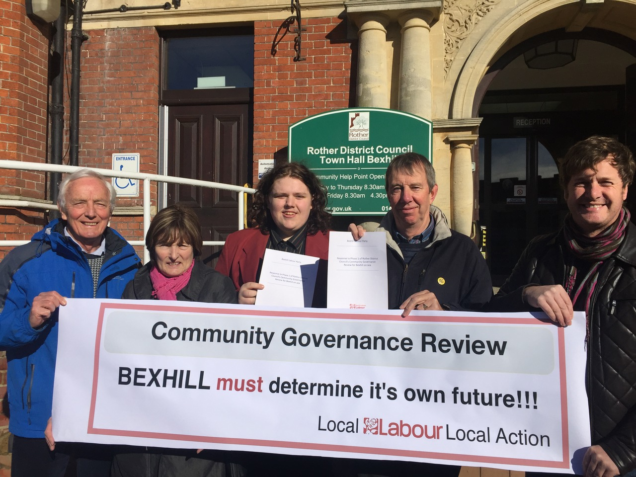 Labour party members supporting the proposed Bexhill town council