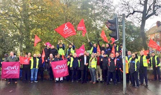 Supporting Rusholme Bus Drivers On Strike