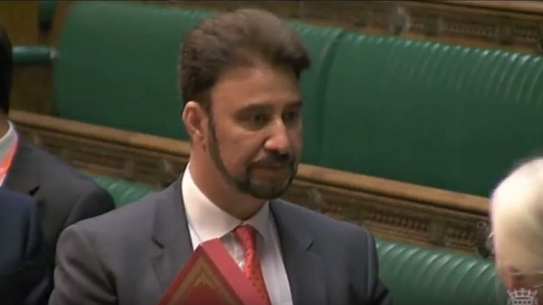 Being sworn in as MP for Gorton