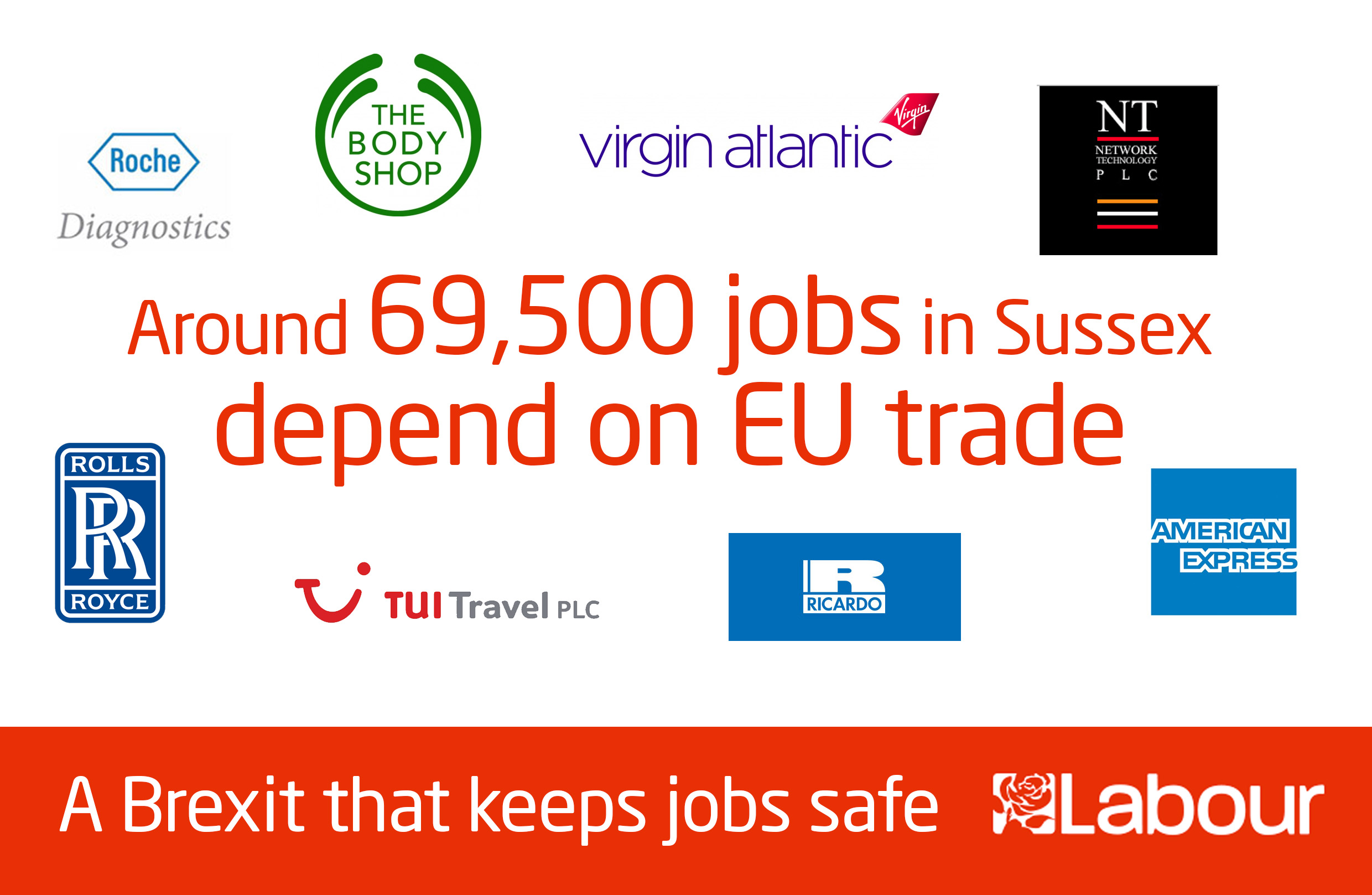69,570 Sussex jobs are dependent on EU trade