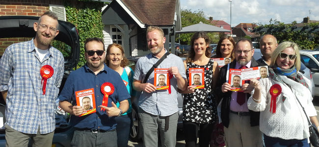 One of many canvassing teams