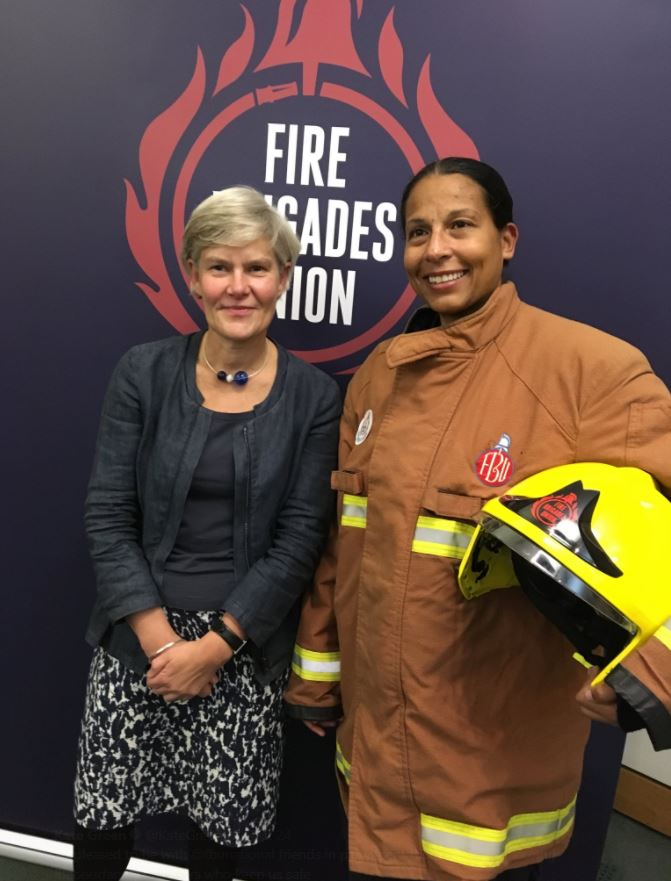 Kate_and_FBU_member_in_London_at_reception_in_parliament.JPG
