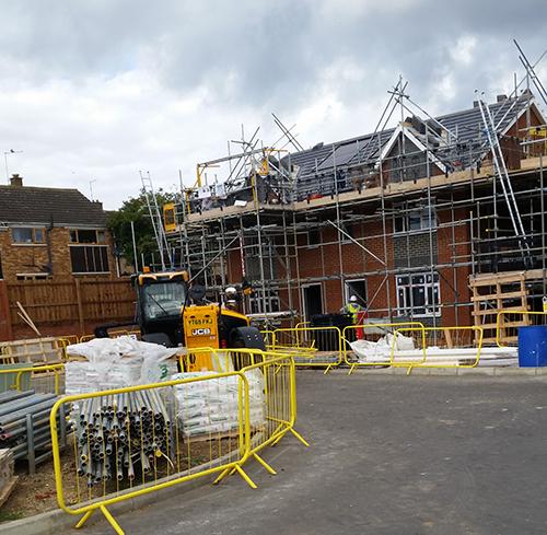 Building council houses
