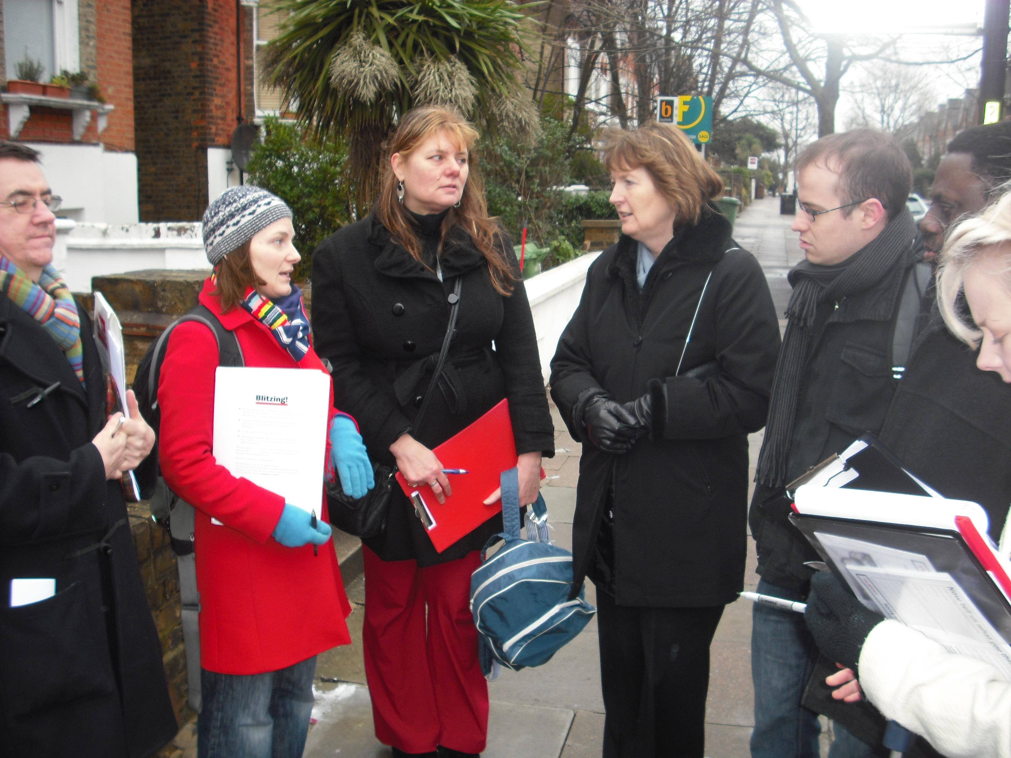 Campaigning in Peckham Rye ward