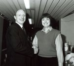 Harriet with Neil Kinnock