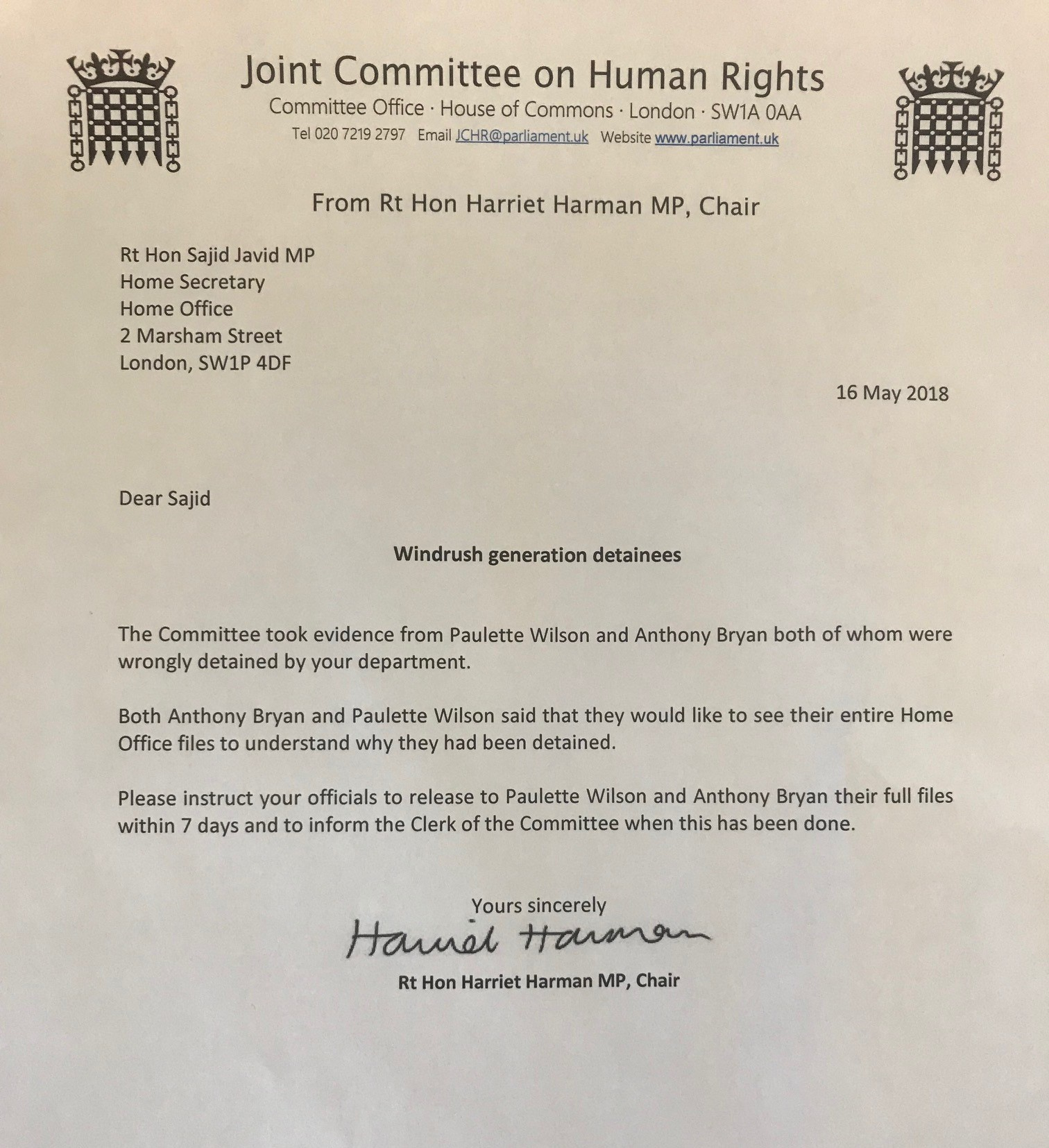 Windrush Generation wrongly detained ask for their Home Office files ...