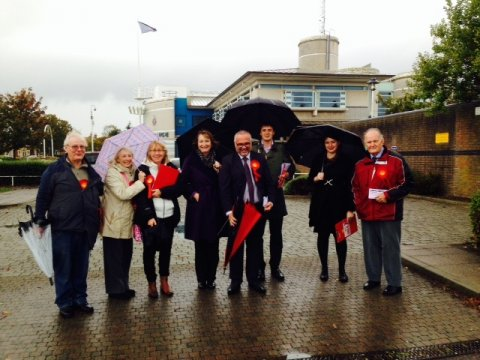 Campaigning in Clacton