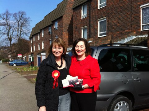 Campaigning Joan Ruddock MP