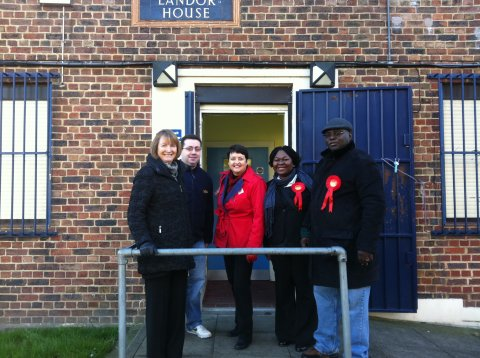 Campaigning on Poets Corner Estate