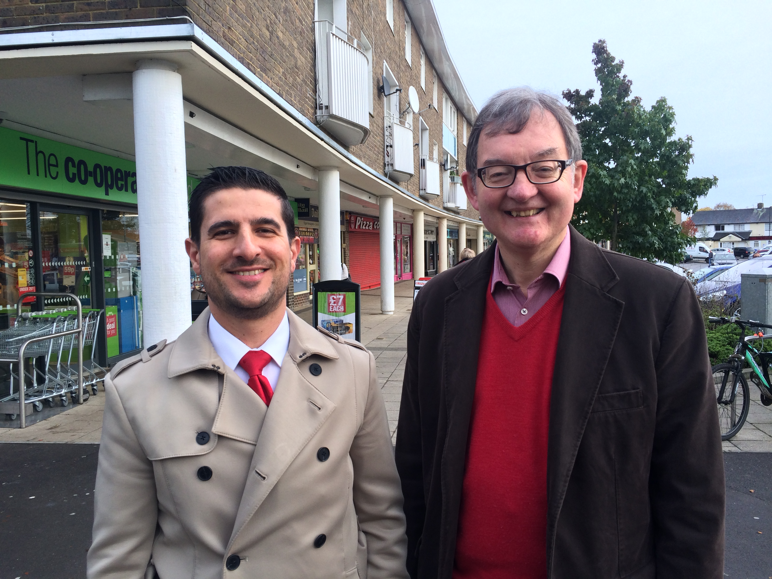 Carlos Castro with Cllr Colin Lloyd