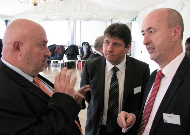 Geraint Davies MP talking about sugar and children's tooth decay with The President of the British Dental Association