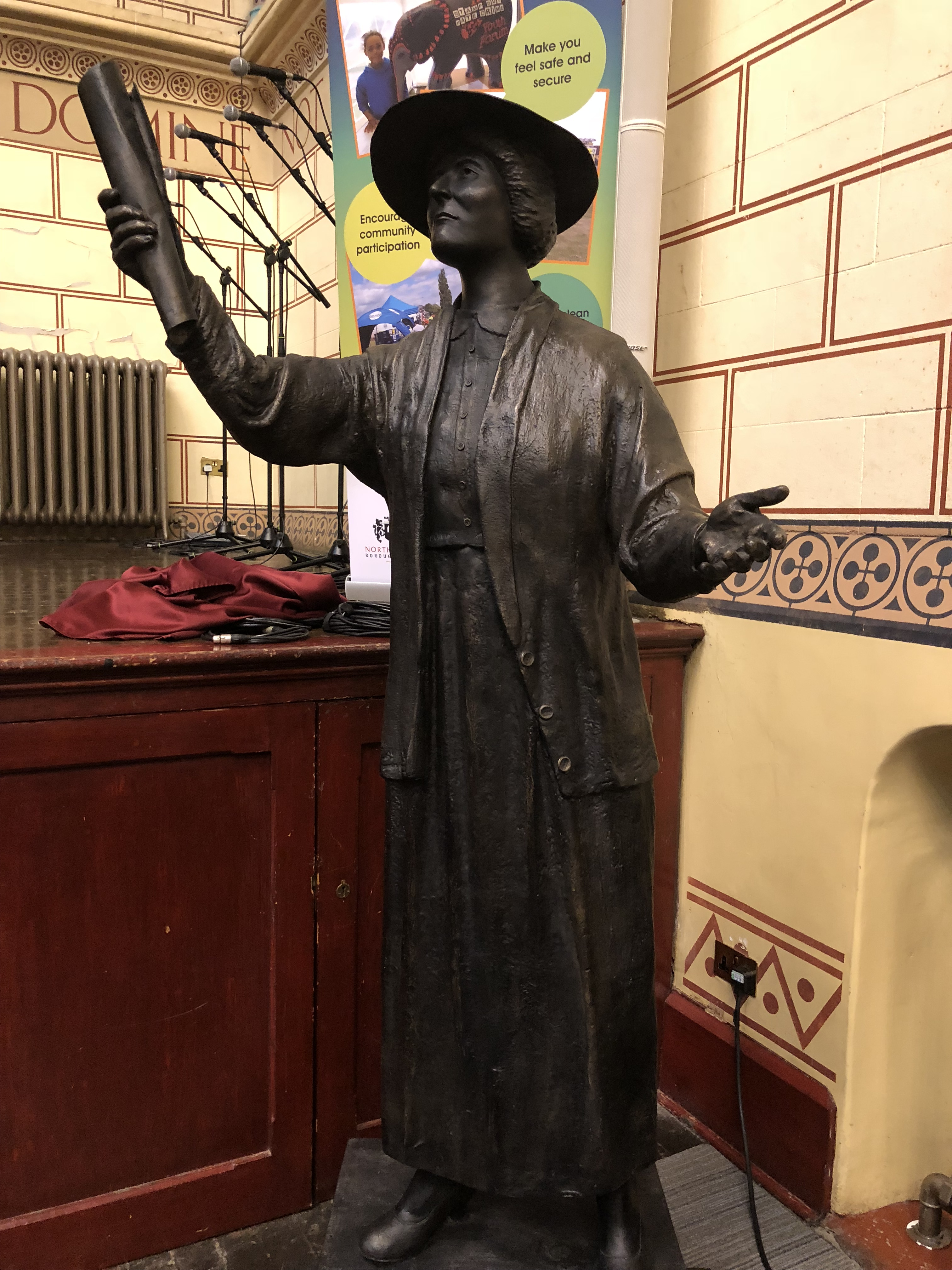 The statue of Margaret Bondield, unveiled on International Womens Day, 2018