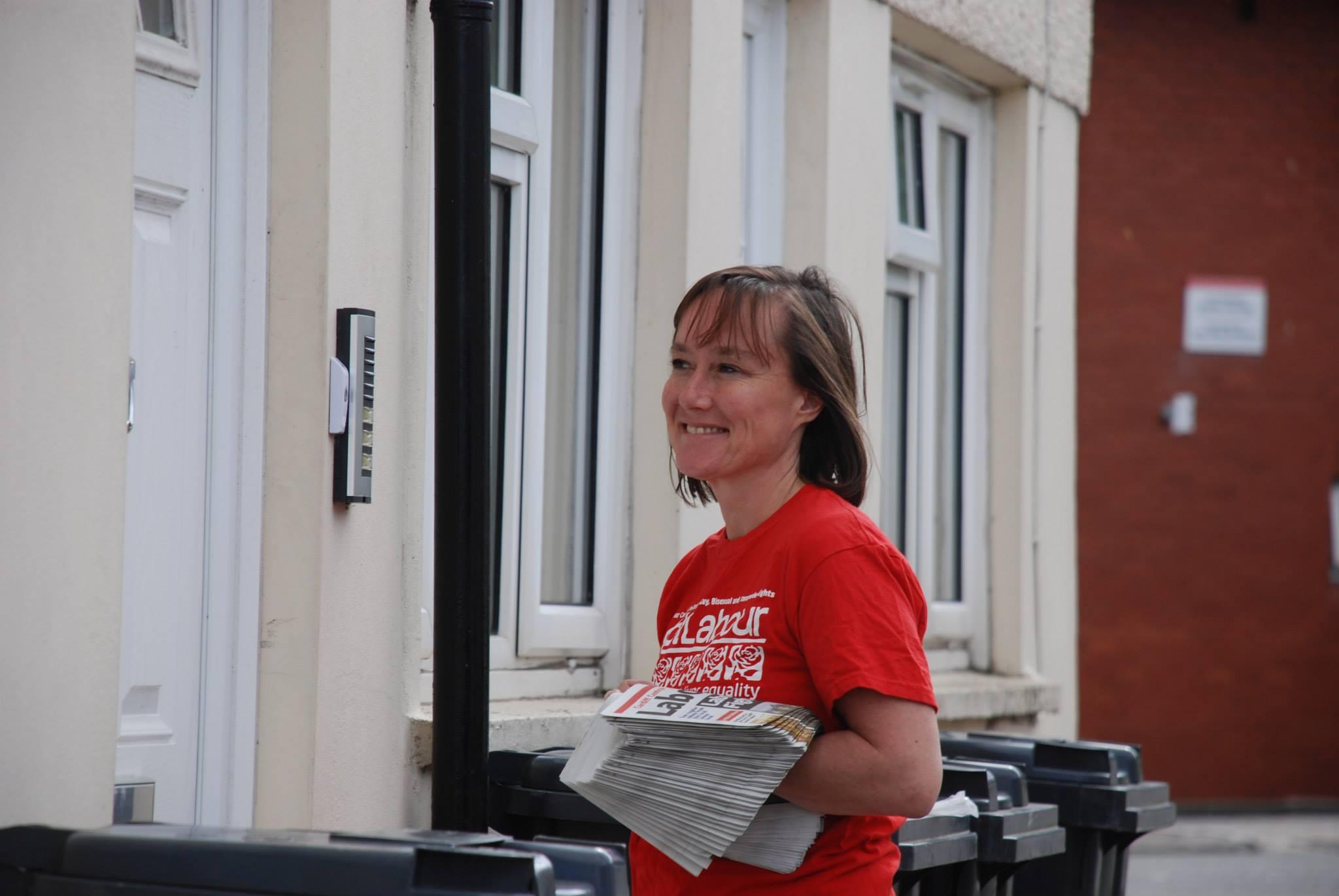 Jo Stevens knocking doors in Cardiff Central