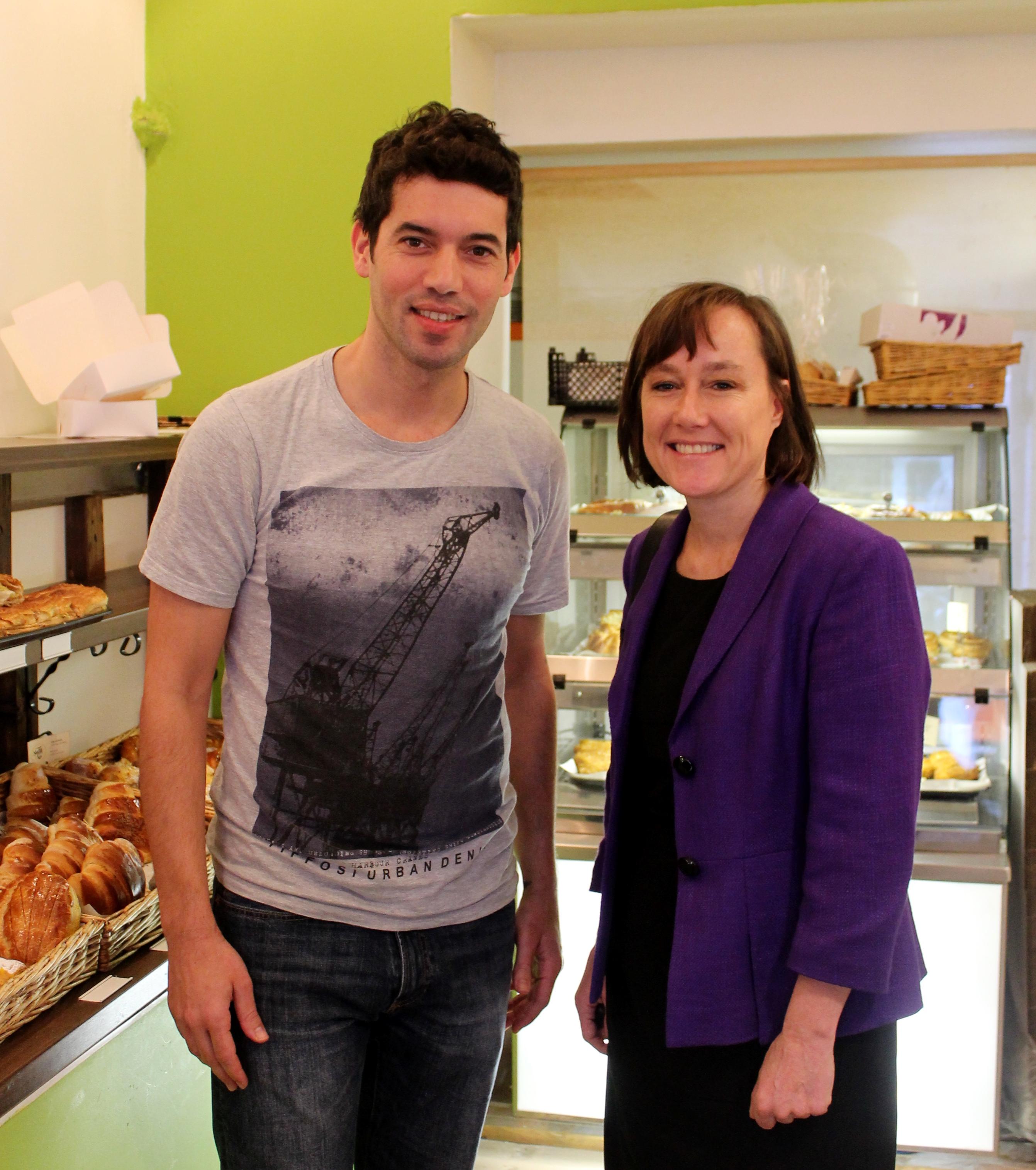 Jo with Nata Bakery staff
