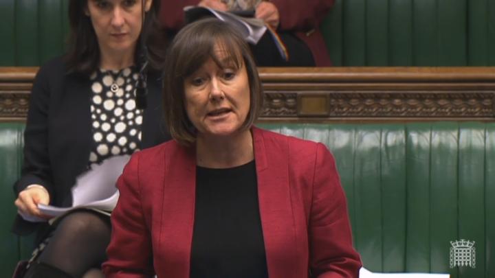 Jo Stevens speaking in the House of Commons chamber