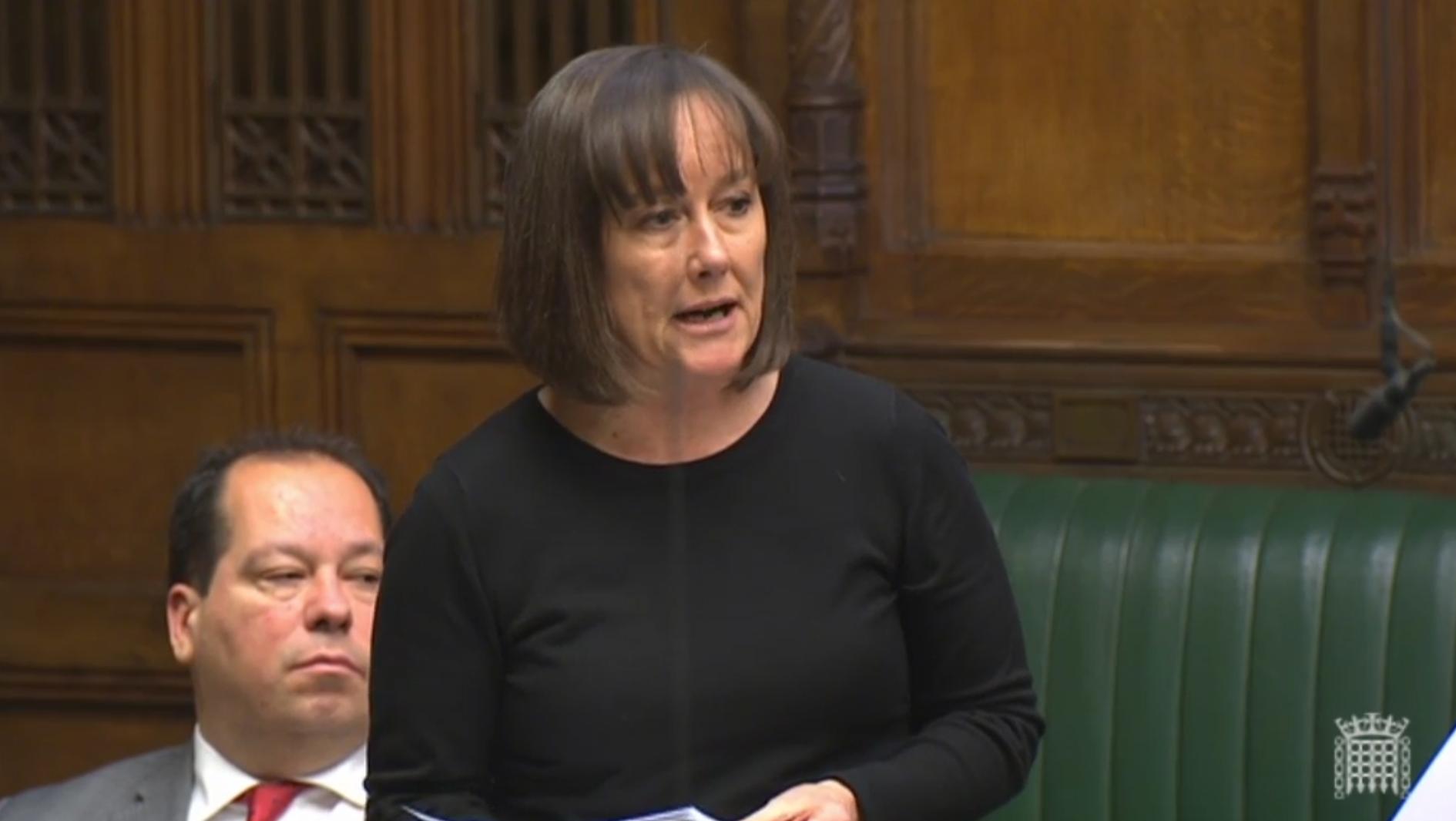 Jo Stevens MP speaking in the House of Commons