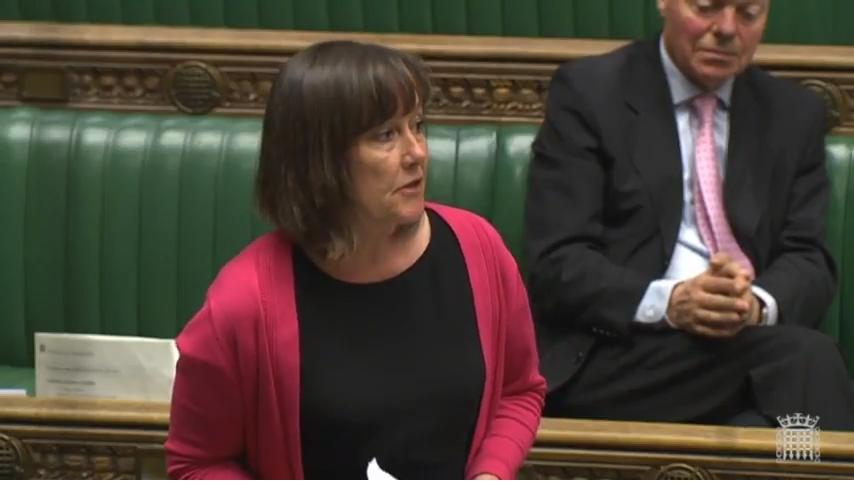 Jo Stevens MP speaking in the House of Commons chamber