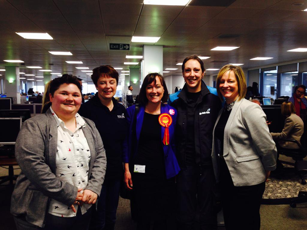 Women from British Gas with Jo and Harriet